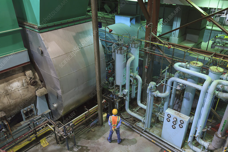 Engineer in electric power plant