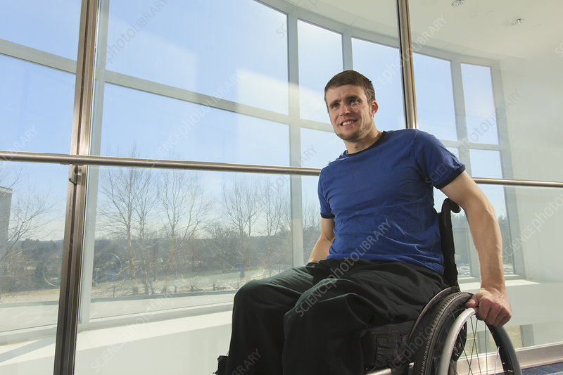 Student with spinal cord injury