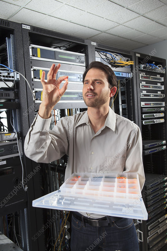 Network engineer selecting parts