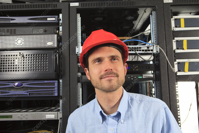 Network engineer in data centre