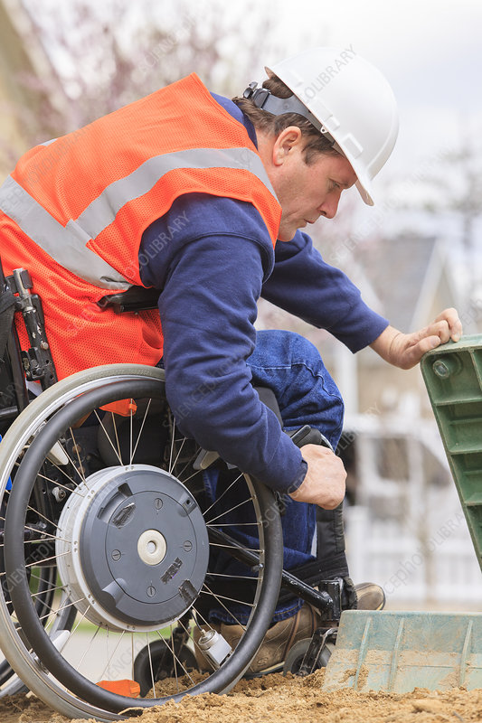 Construction engineer in wheelchair
