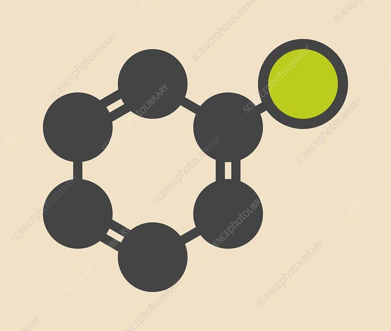 Chlorobenzene industrial solvent molecule