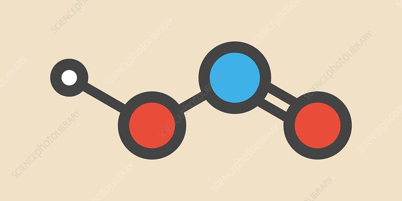 Nitrous acid mineral acid molecule