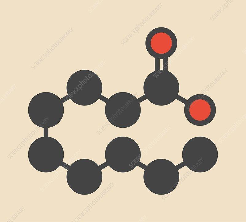Pelargonic acid molecule