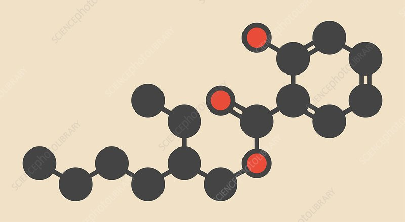Octyl salicylate sunscreen molecule