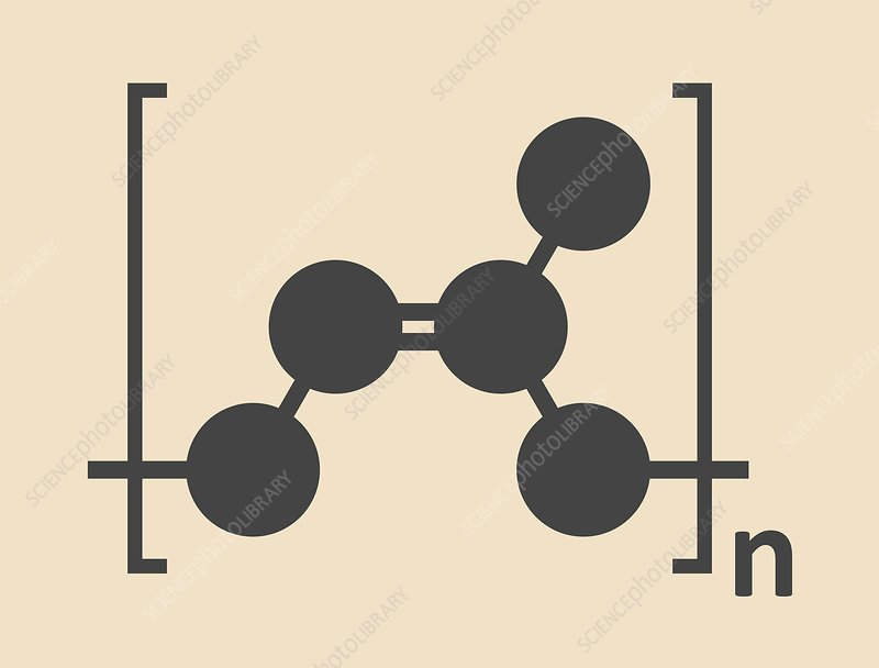 Natural rubber polymer molecule - Stock Image - F012/6261 - Science