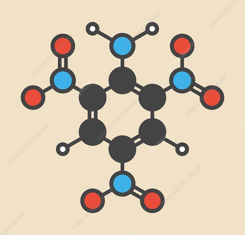 Picramide explosive molecule
