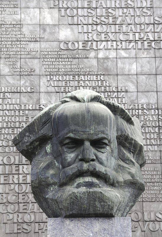 Karl Marx Monument in Chemnitz, Germany