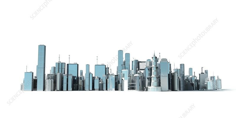 Urban skyline, Illustration