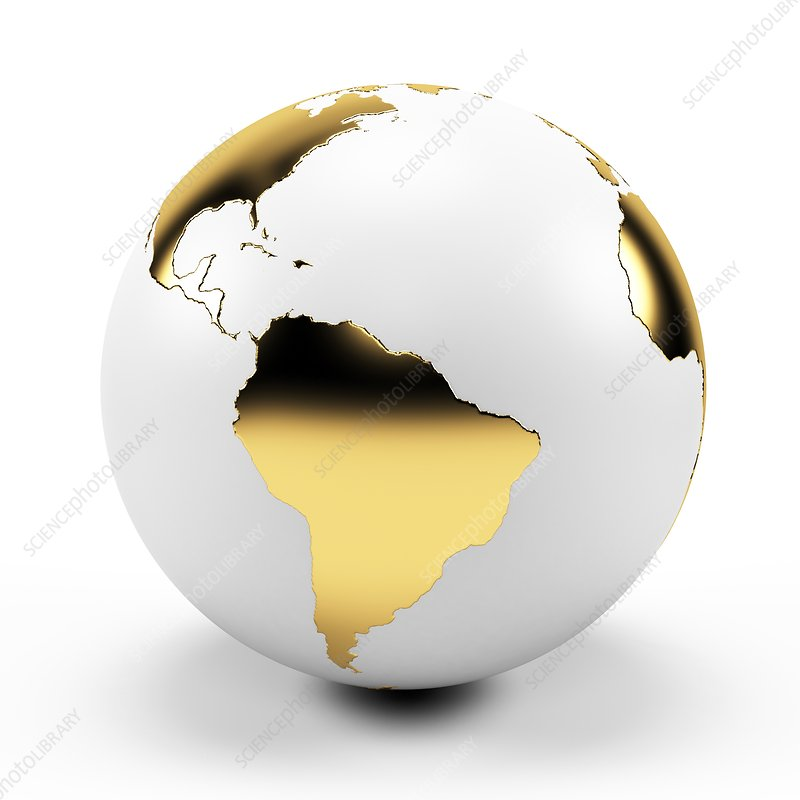White and gold globe, Illustration