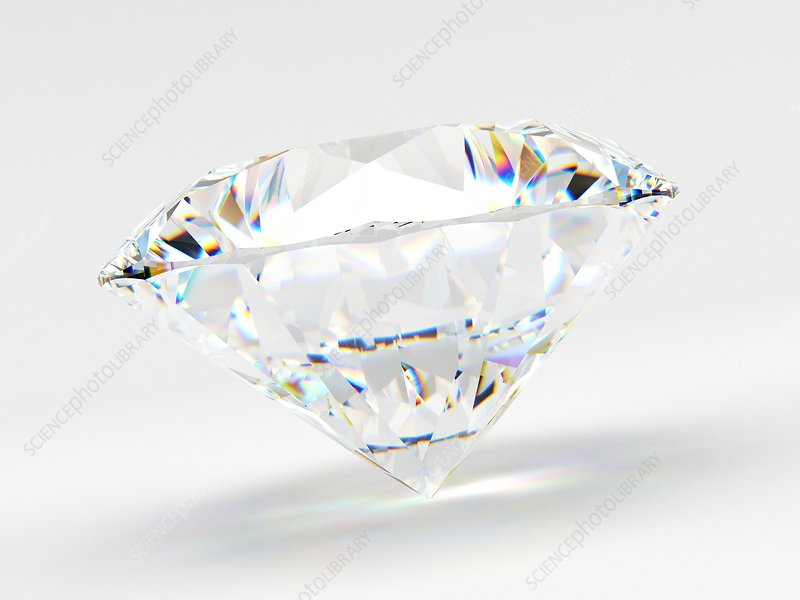 Diamond on white background, Illustration