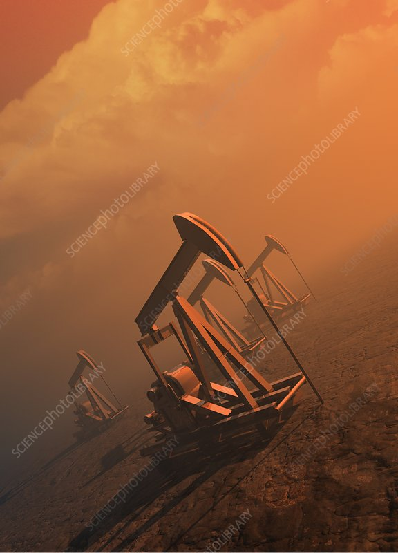 Oil well pumps, Illustration