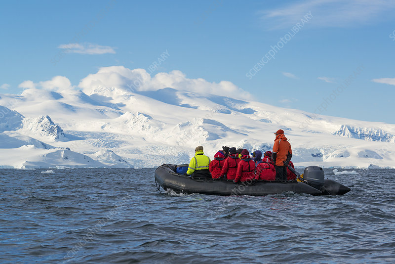 Group of people in the Antarctic