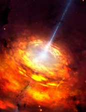 Artwork of an Active Galactic Nucleus
