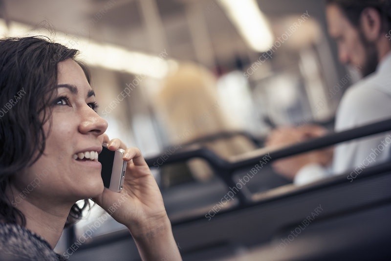 A woman talking on her cell phone