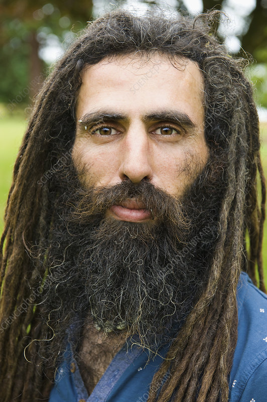 A man with long dreadlocks