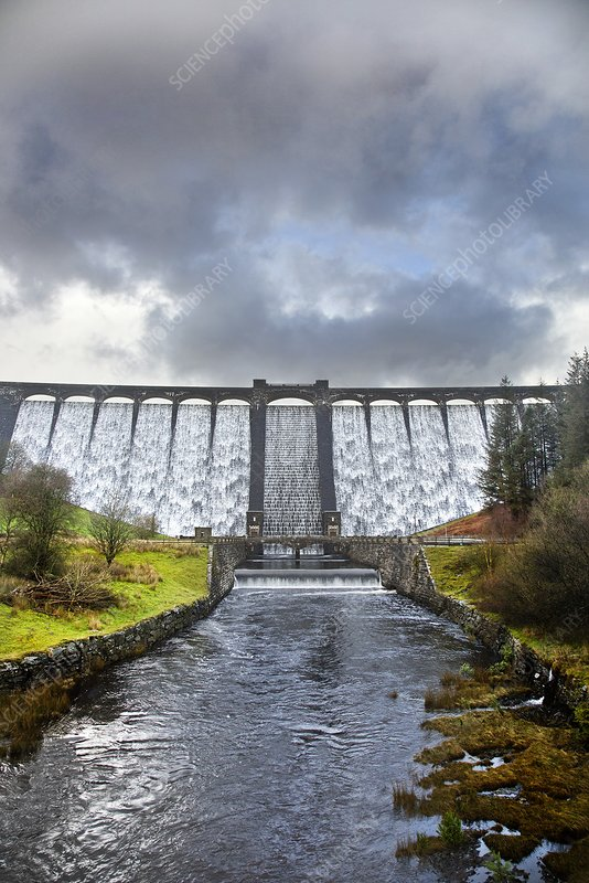 Claerwen Reservoir Dam, Elan Valley