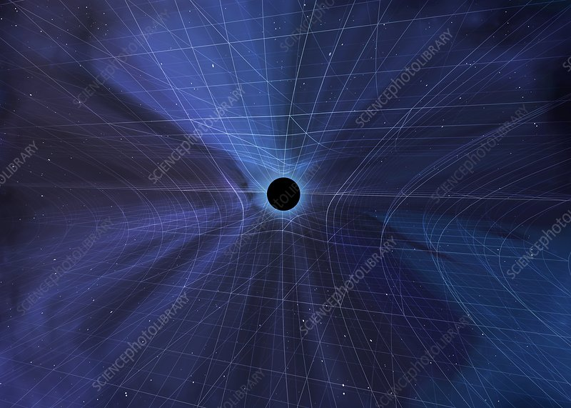 Spacetime Warped by a Black Hole