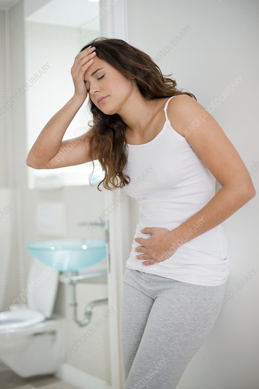 Woman with cramps