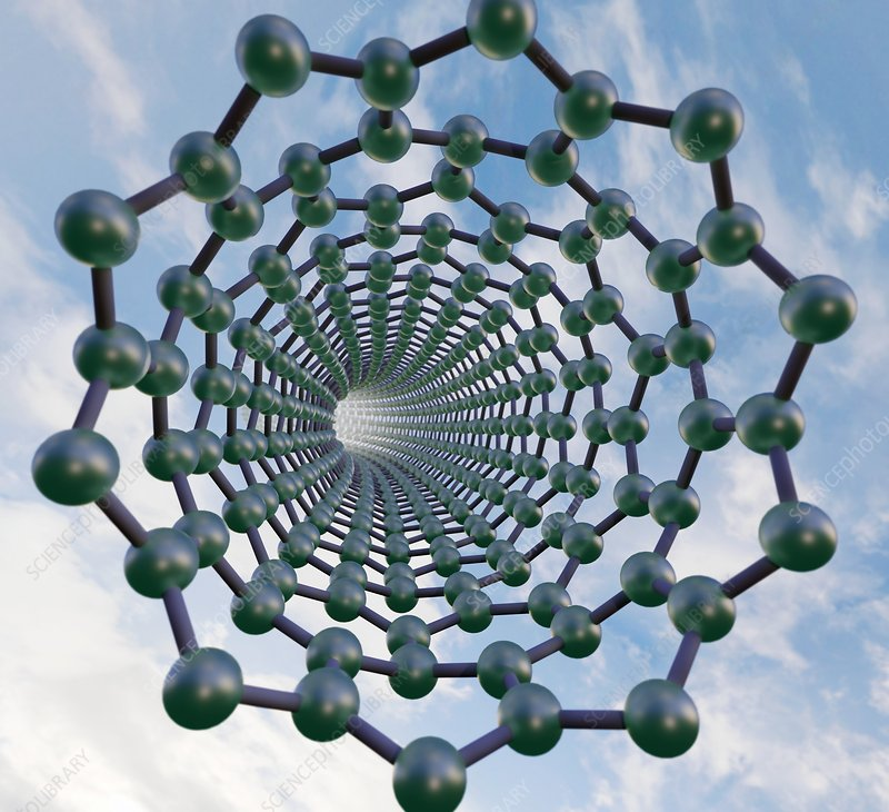 Graphene nanotube, illustration