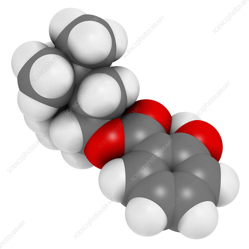 Homosalate sunscreen molecule
