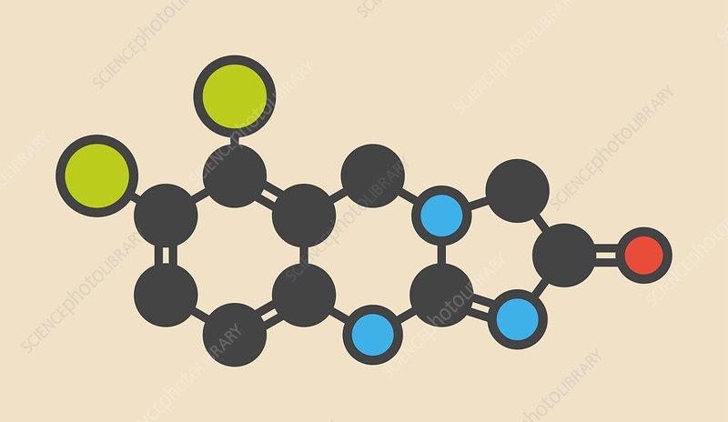Anagrelide thrombocytosis drug molecule