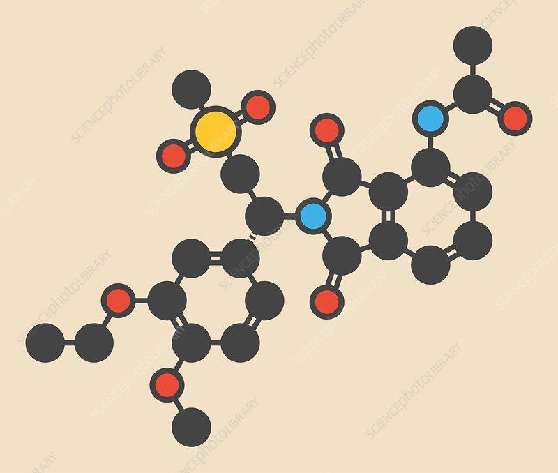 Apremilast psoriasis drug molecule