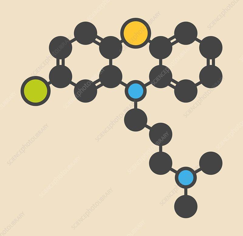 Chlorpromazine antipsychotic molecule