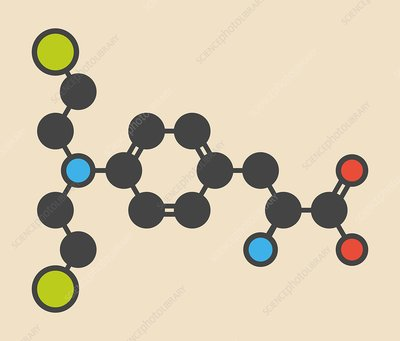 Melphalan cancer drug molecule