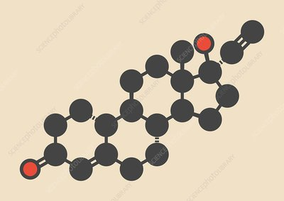 Norethisterone drug molecule