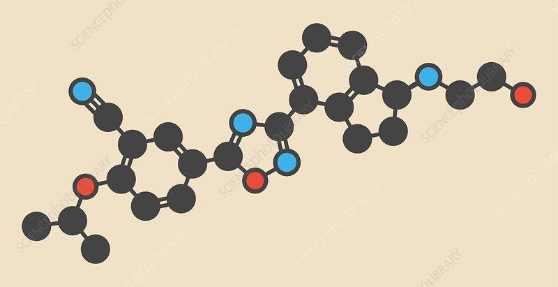 Ozanimod anti-inflammatory drug molecule