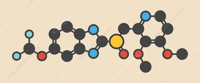 Pantoprazole gastric ulcer drug molecule
