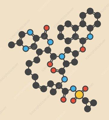 Paritaprevir hepatitis C drug molecule