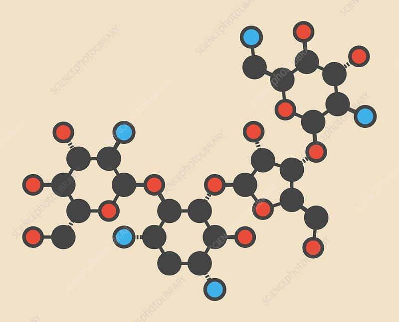 Paromomycin aminoglycoside molecule