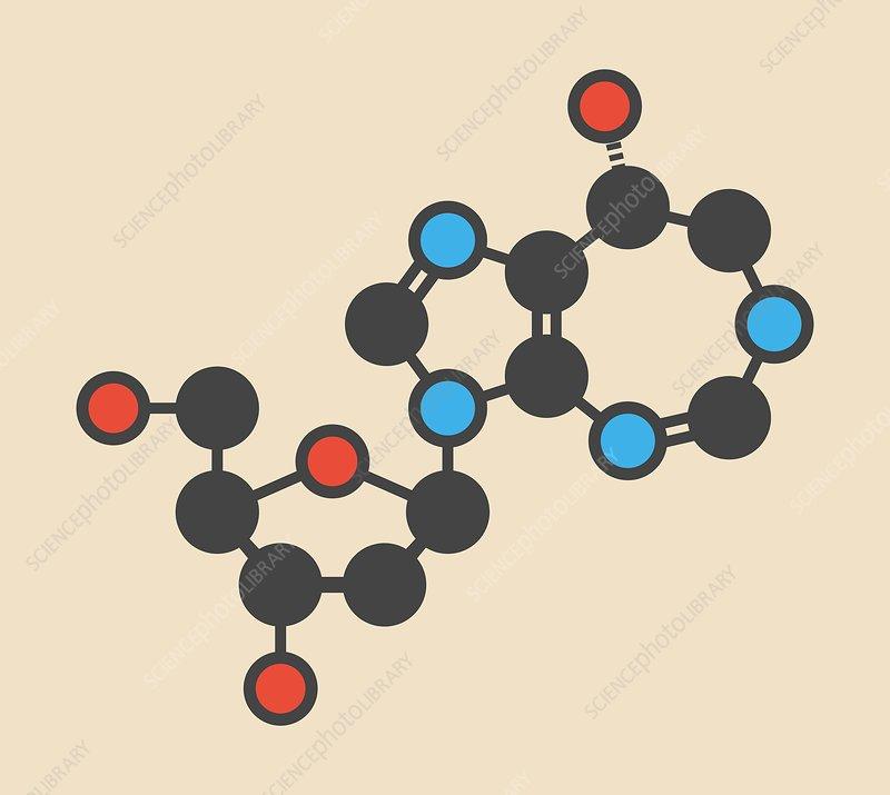 Pentostatin cancer drug molecule