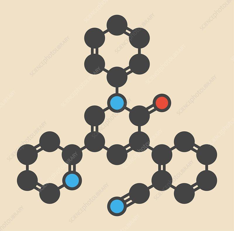 Perampanel epilepsy drug molecule