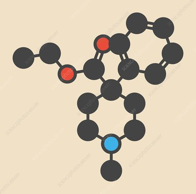 Pethidine opioid analgesic drug molecule