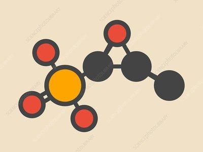 Fosfomycin antibacterial drug molecule