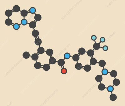 Ponatinib cancer drug molecule