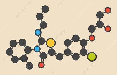 Ponesimod anti-inflammatory drug molecule