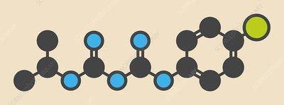 Proguanil drug molecule