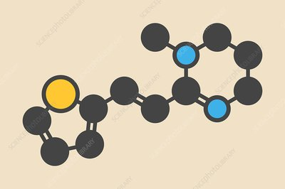 Pyrantel antinematodal drug molecule