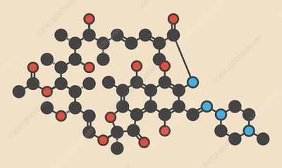 rifampicin tuberculosis drug molecule