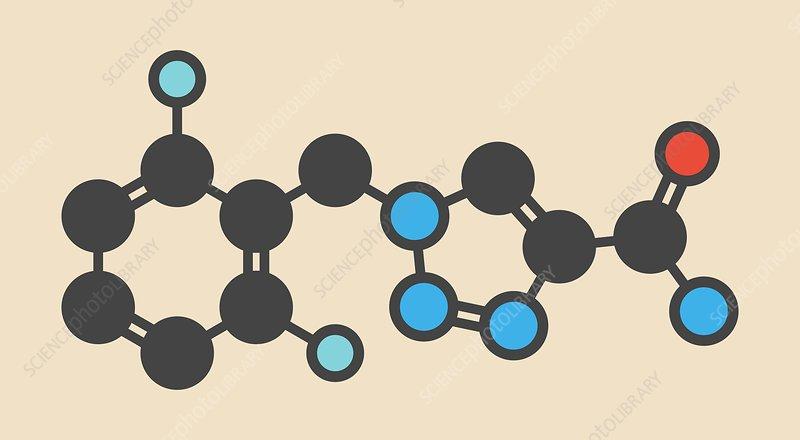 Rufinamide seizures drug molecule