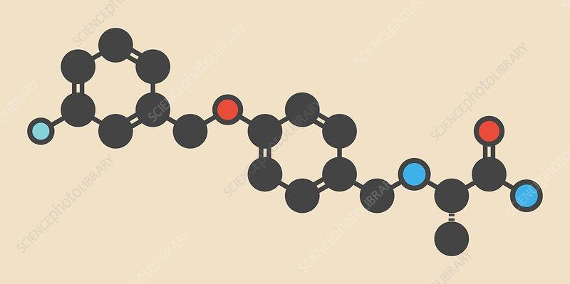 Safinamide Parkinson's drug molecule