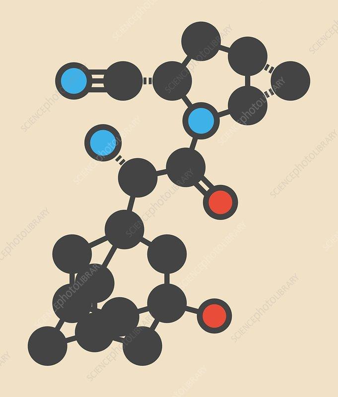 Saxagliptin diabetes drug molecule