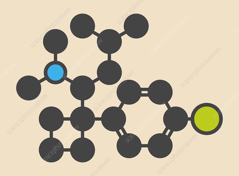 Sibutramine obesity drug molecule