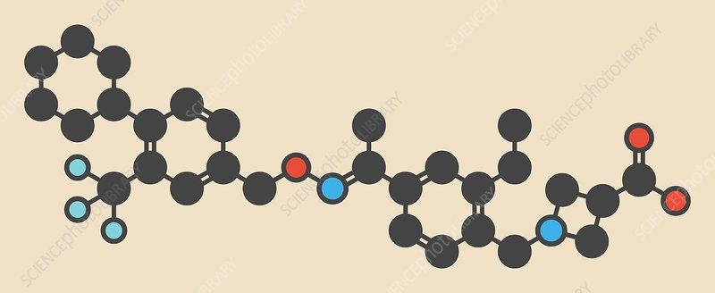 Siponimod anti-inflammatory drug molecule