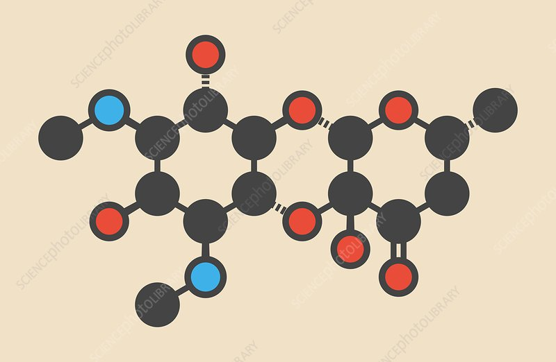 Spectinomycin gonorrhea drug molecule