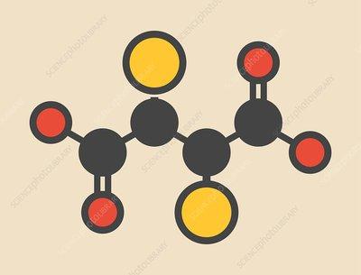 Succimer lead poisoning drug molecule